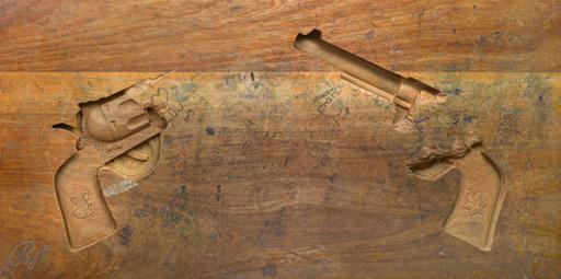 R-Rated School Desk Carvings