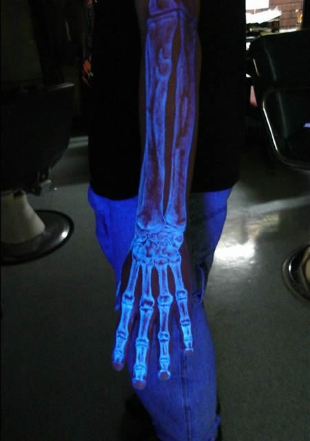 However, some UV inks are not as bright under normal light as normal tattoo