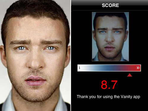 Are You Hotter than Bieber? Measure Now with the World's Vainest iPhone App