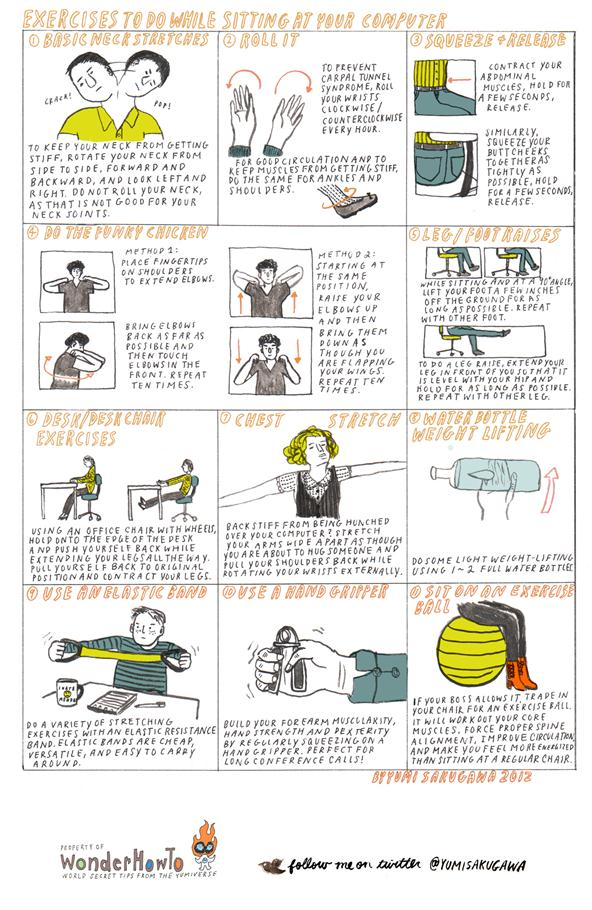 11 Exercises to Do While Sitting at Your Computer