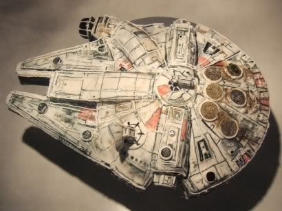 millenium falcon spaceship cake star wars
