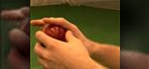 Grip the ball to bowl offspin