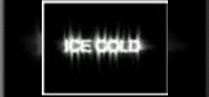 Create an ice text effect using Photoshop CS2