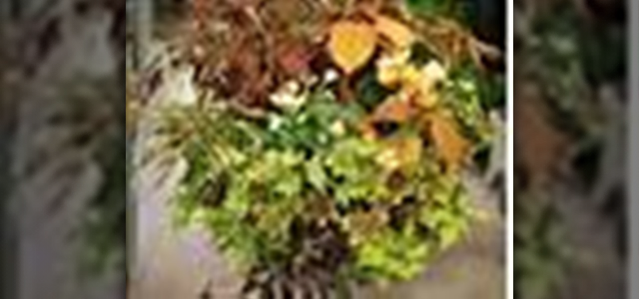 How To Make A Hanging Basket Flowers : How to make hanging baskets ? flower arrangement