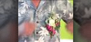 Makea wedding corsage