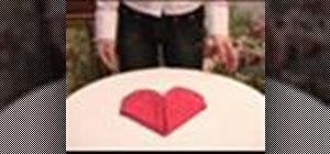 Folda napkin into a heart