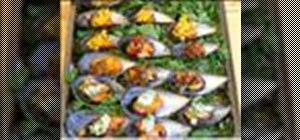 Makesteamed mussel canapes