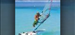 Do a sail and body 360 when windsurfing