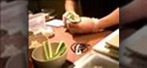 Make a sushi hand roll