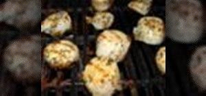 Make Mediterranean grilled scallops