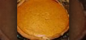 Bake a pumpkin pie with fresh pumpkins