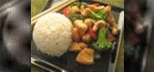 Make chicken and broccoli stir fry