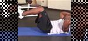 Do a double crunch ab exercise