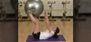 Do a ball exchange abs exercise
