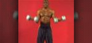 Exercise with the underhand dumbbell bicep curl