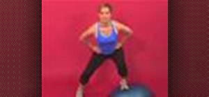 Exercise with the side lunge on bosu flat down