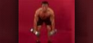 Exercise with the dumbbell snatch