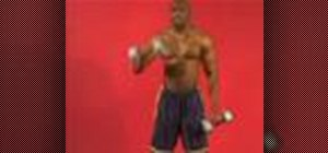 Exercise with overhand reciprocal dumbbell bicep curl