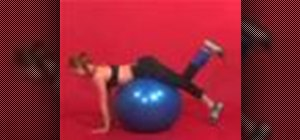 Exercise with 1 leg curl on stability ball with weight