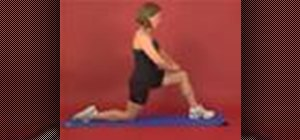 Exercise with the hip flexors self stretch