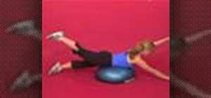 Exercise with superman on bosu with opposite arm & leg