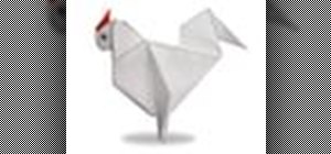 Origami a chicken Japanese style