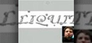 Photoshop liquid text