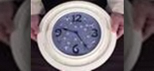 Create your own embroidered clock