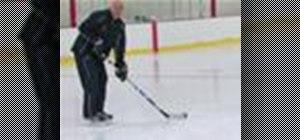 Pass a hockey puck