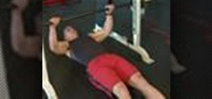 Do a supine row exercise weight lifting exercise