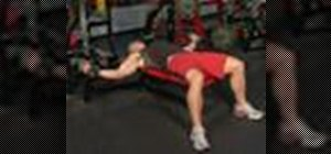 Execute a flat bench dumbbell fly for weight training
