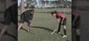 Attack in a game of field hockey