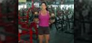 Do standing dumbbell curls to increase arm strength