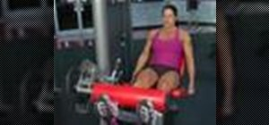 Do quad extensions to strengthen the legs
