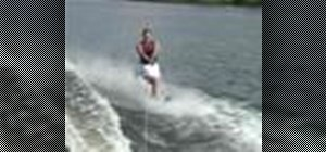 Cross wakes on one water ski