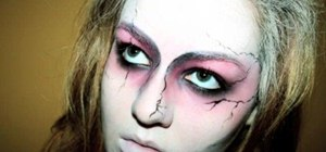Apply zombie makeup for Halloween