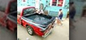 Turn a pickup truck bed into a hot tub