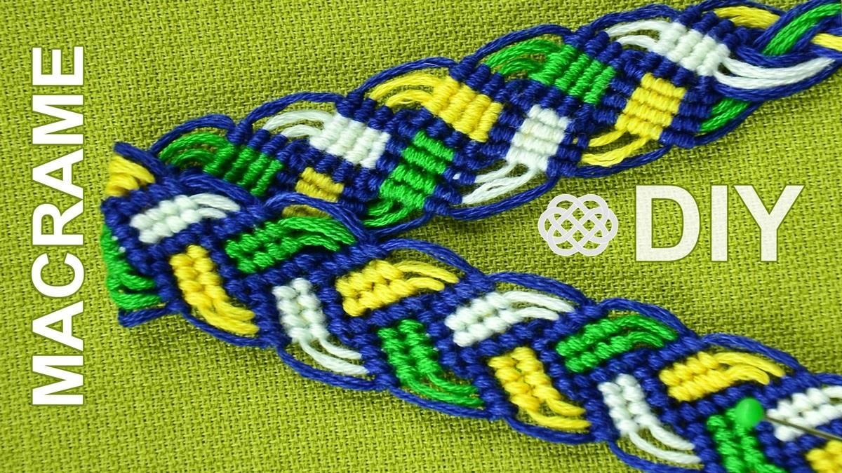How To Make A Braided Macrame Friendship Bracelet That Looks Nice On Both Sides
