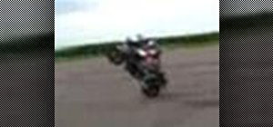 Pop a wheelie on a motorcycle or sportbike