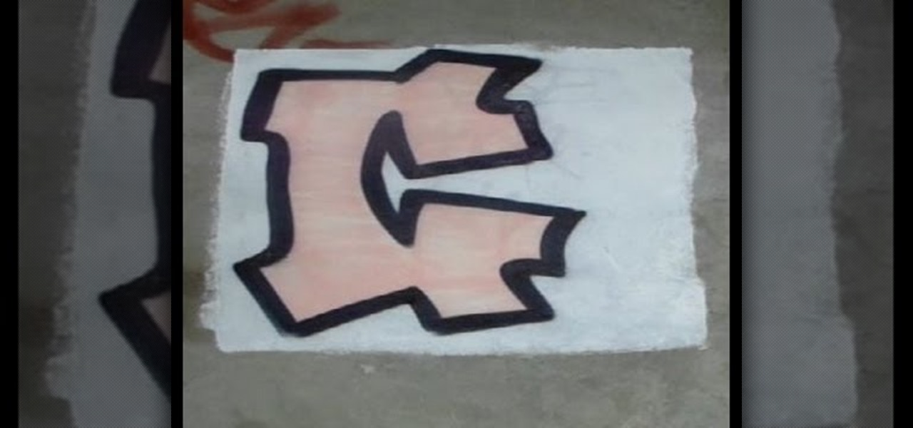 How To Do Graffiti Letter C With Spray Can Drawing Illustration