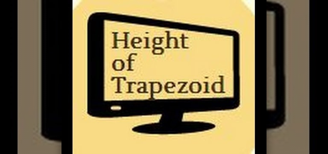 Find the Height of a Trapezoid.