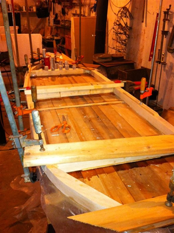 Balsa Wood Surfboard Rails and Inside Frame.