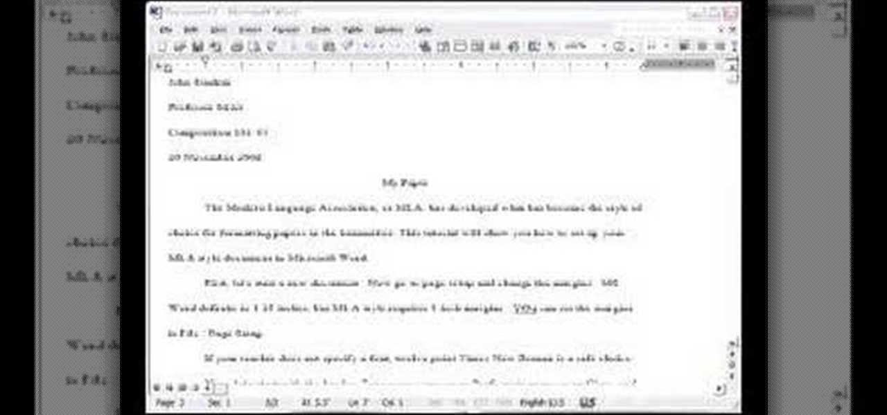How to set up a document in MLA format in Google Docs - YouTube