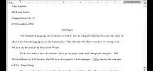 Set up an MLA style essay in MS Word