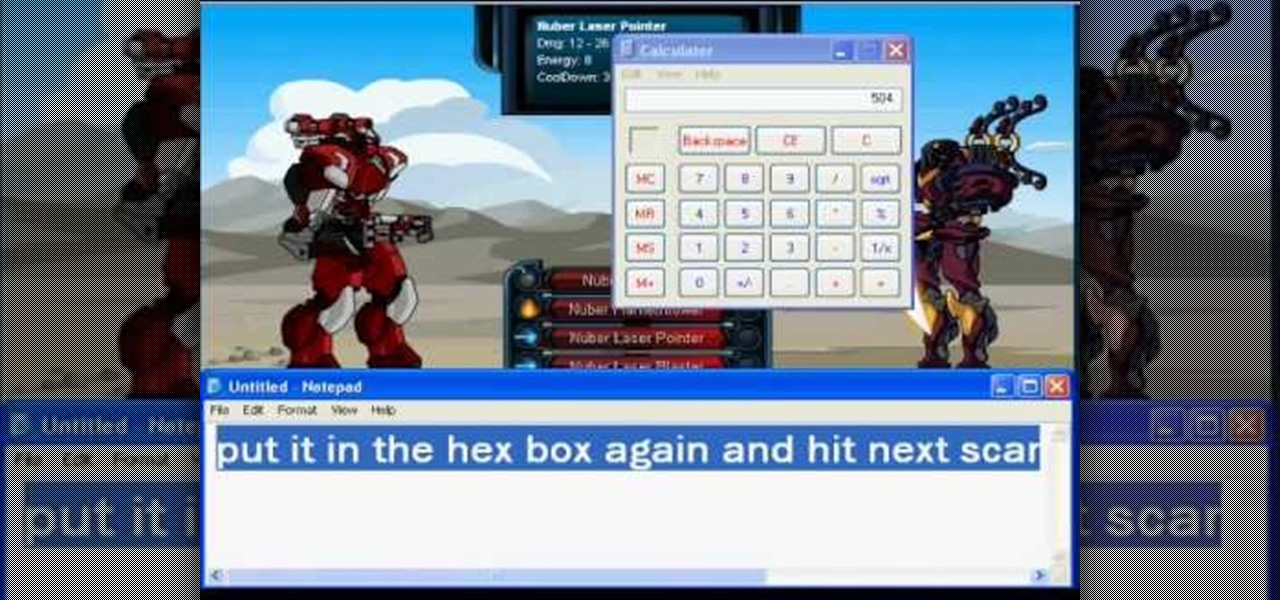 How to Hack Mech Quest for a one hit kill using Cheat Engine « Web