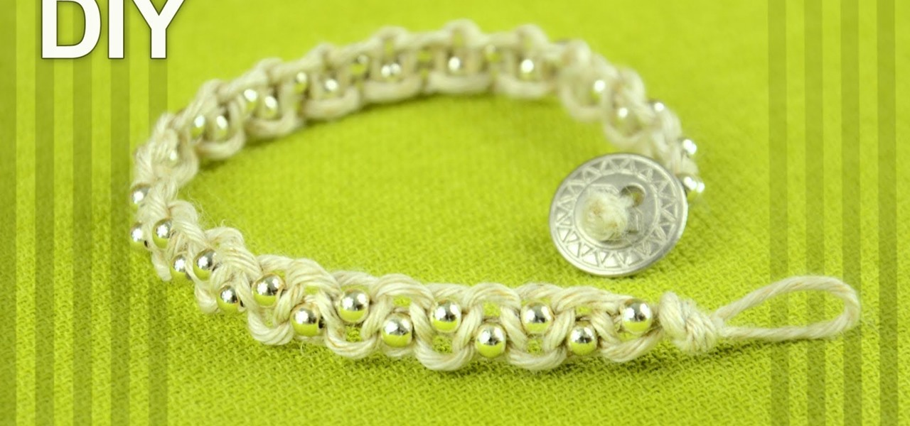 Easy Bracelet with Beads and Button Clasp - Tutorial
