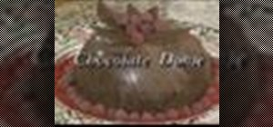 Make chocolate dome cake