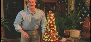 Make an apple christmas tree