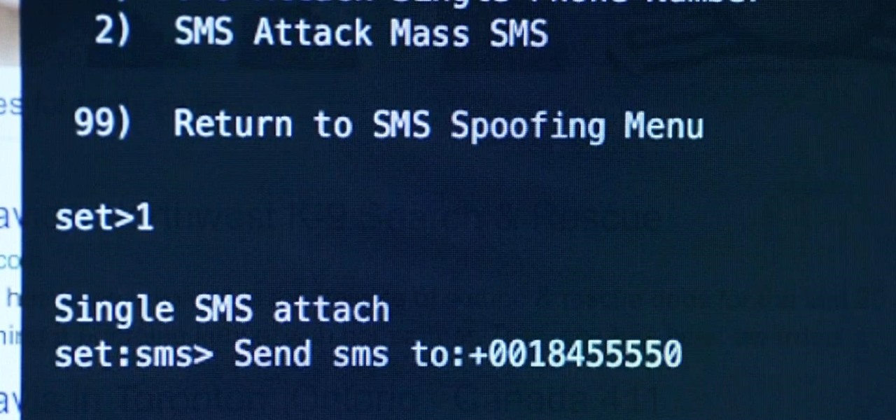 How to Send a Spoofed SMS Text Message