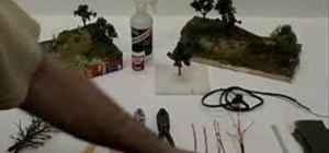 Make miniature trees for dioramas